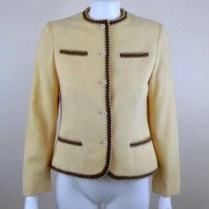Vintage Wool Tipped Blazer Jacket sz 6